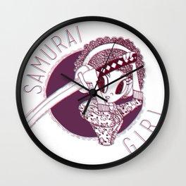 Urban samurai Girl Wall Clock