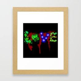 Floral Addiction Framed Art Print