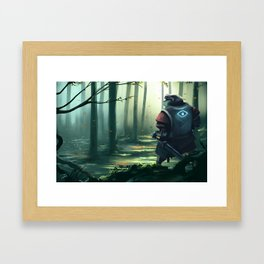 The Wizard who wanted to be a Knight  Framed Art Print
