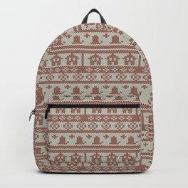 Winter Knitting Backpack
