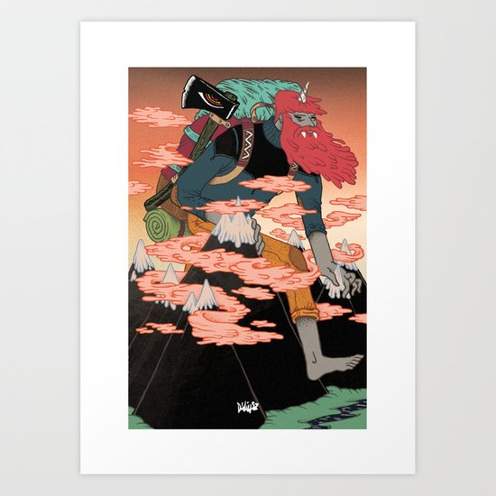 WANDERING GOD OF MOUNTAINS Art Print