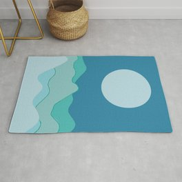 Wave of mountain Rug