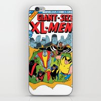 men iPhone & iPod Skins featuring XL-MEN by Fuacka