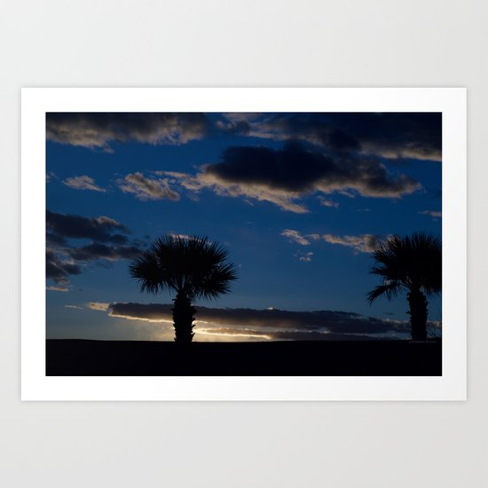 Palm Sunset - IV Art Print