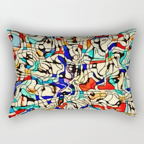 Abstract W Rectangular Pillow