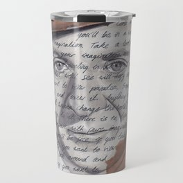 Willy Wonka Portrait with Pure Imagination Lyrics Travel Mug