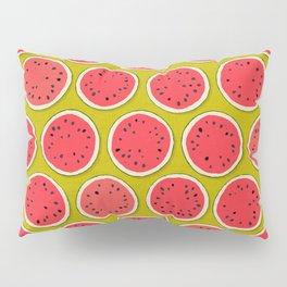 watermelon polka chartreuse Pillow Sham