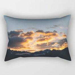 Alaskan Mountain Dawn VII Rectangular Pillow