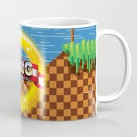 video game Mugs featuring Retro Platform Video game poster  by Nick's Emporium