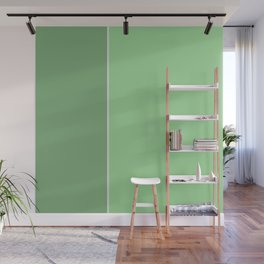 Green Lines Wall Mural