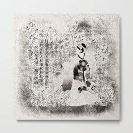 Tanzende Geisha Metal Print