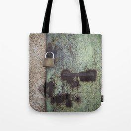 Rusty door Tote Bag