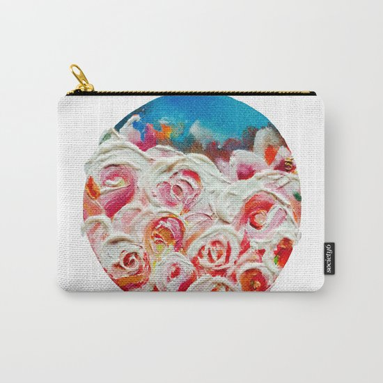 Roses on Fire Carry-All Pouch