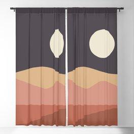 Geometric Landscape 23B Blackout Curtain