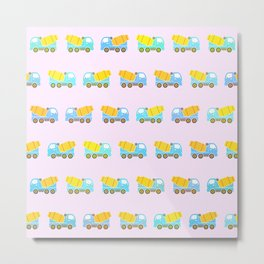 Toy truck pattern Metal Print