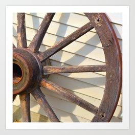 Wheel of a Wagon Art Print