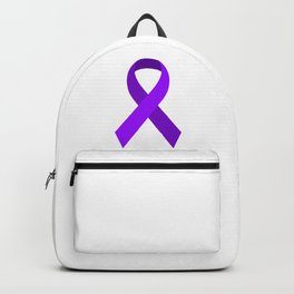 Purple Awareness Support Ribbon Backpack