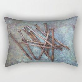 a bunch of nails Rectangular Pillow