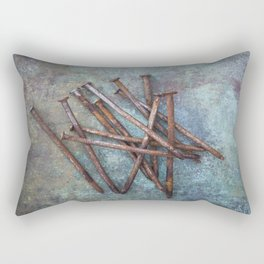 a bunch of nails Rectangular Pillow