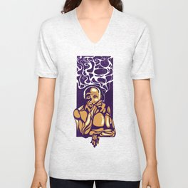 Thoughts of Picasso Unisex V-Neck