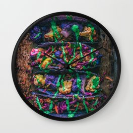 Purple Cauliflower Tacos Wall Clock