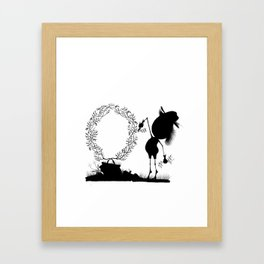 The Letter O Framed Art Print