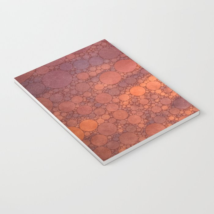 Percolated Sunset in Warm Tones Notebook