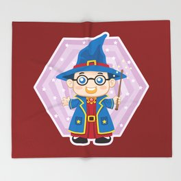 Wizard Kid Throw Blanket