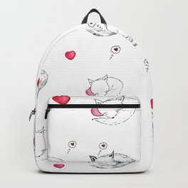 Love Fox Doodle Art Backpack