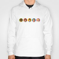 spice girls Hoodies featuring SPICE GIRLS ICONS by Chilli Cactus