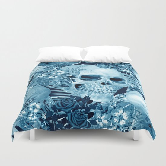 tropic skull  Duvet Cover