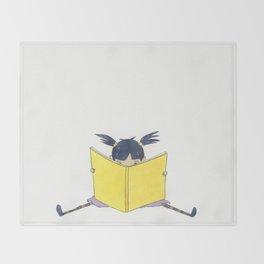 Little Girl Reading Throw Blanket