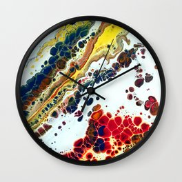 Primary Agate Slab Wall Clock