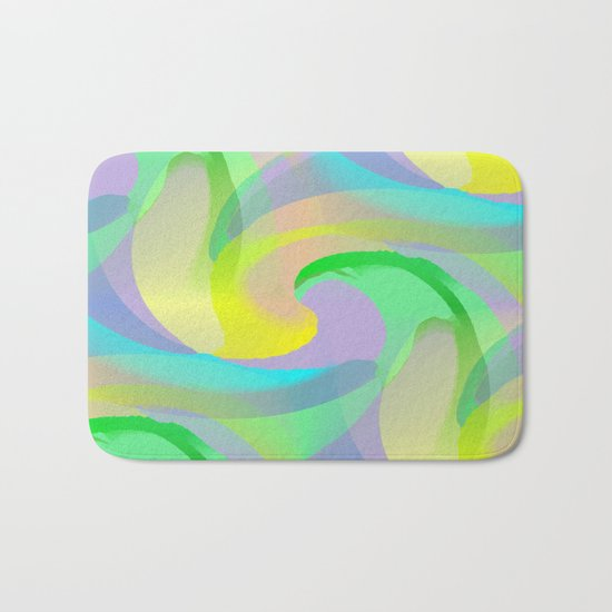Soft Rainbow Abstract - Painterly Bath Mat