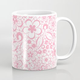 Pink , fishnet , lace Coffee Mug