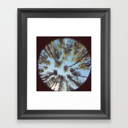 look up & GET LOST Framed Art Print