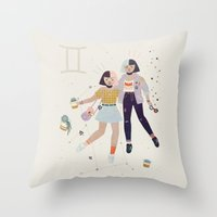 gemini Throw Pillows featuring Gemini by LordofMasks