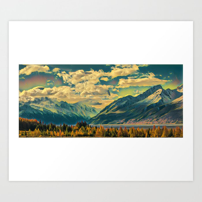Cabin View Wilderness Art Print