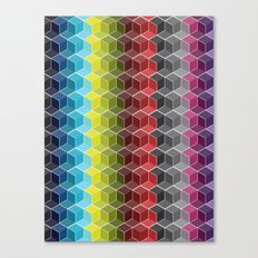 Hexagon Shades / Pattern #6 Canvas Print
