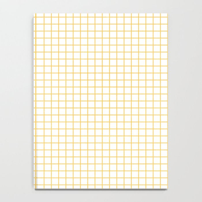 Yellow Graph Paper Notebook By Herart Society6