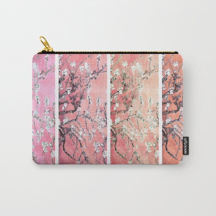 Vincent Van Gogh Almond Blossoms Panel Pink Peach Carry-All Pouch