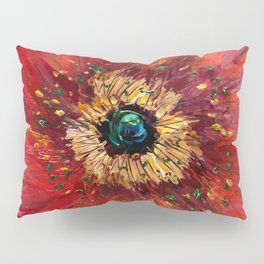 Red Poppy Pillow Sham