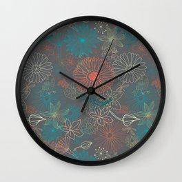 Grey Dreams Wall Clock