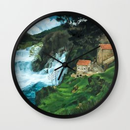 Waterfall in Krka Wall Clock