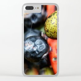 Colorful berries Clear iPhone Case