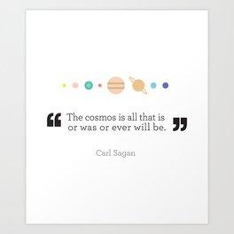 SAGAN Art Print