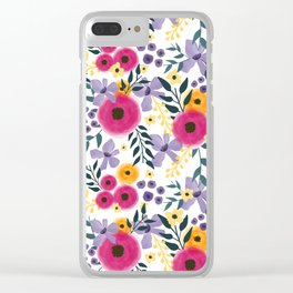 Spring Floral Bouquet Clear iPhone Case