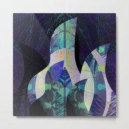 Enchanted Forest Abstract No. 3 Metal Print