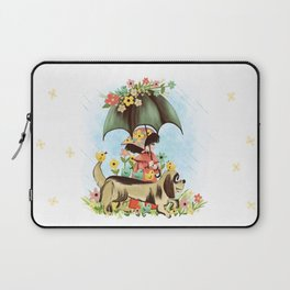 Rain on the green grass, Rain on the tree, Rain on the housetop, But not on me Laptop Sleeve