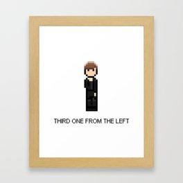Third one from the left Framed Art Print